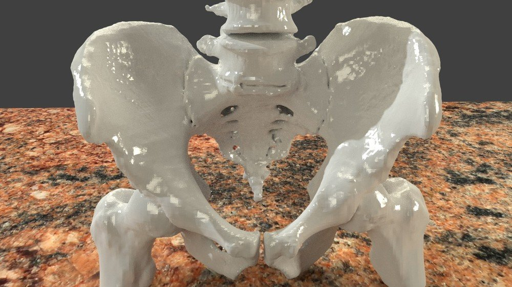 Preparing CT scans for 3D printing. Cleaning and repairing STL file mesh from bones using Blender, an advanced tutorial