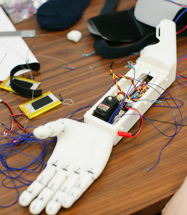 3D printing prosthetic arms for children who are missing theirs