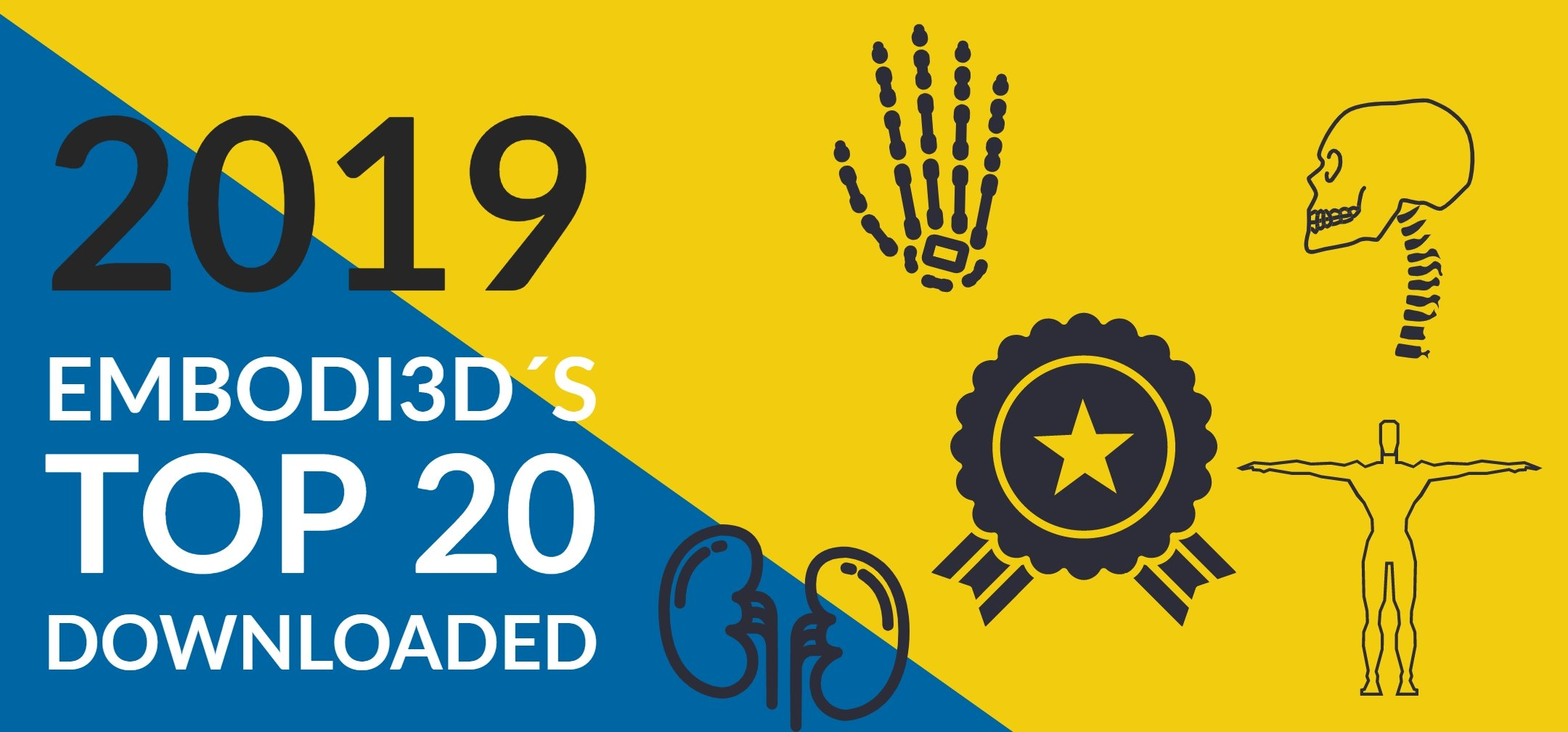 Embodi3d´s Top 20 downloaded of 2019!