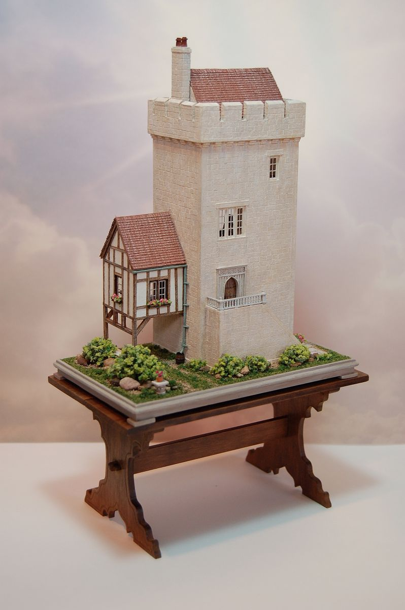 1:144 Scale Tower House By Nell Corkin