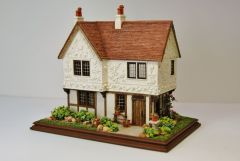 1:144 Scale Pargeted House By Nell Corkin