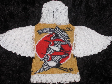 Japanese Crane sweater by Althea Crome