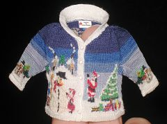 Christmas sweater front by Althea Crome