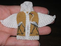 Japanese Crane Cardigan by Althea Crome