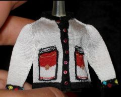 Andy Warhol Cardigan, front, by Althea Crome