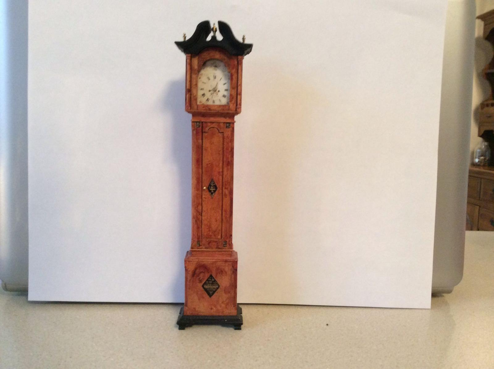 Grain painted tall case clock by Elizabeth Gazmuri