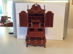 Bombe desk and secretary by Elizabeth Gazmuri