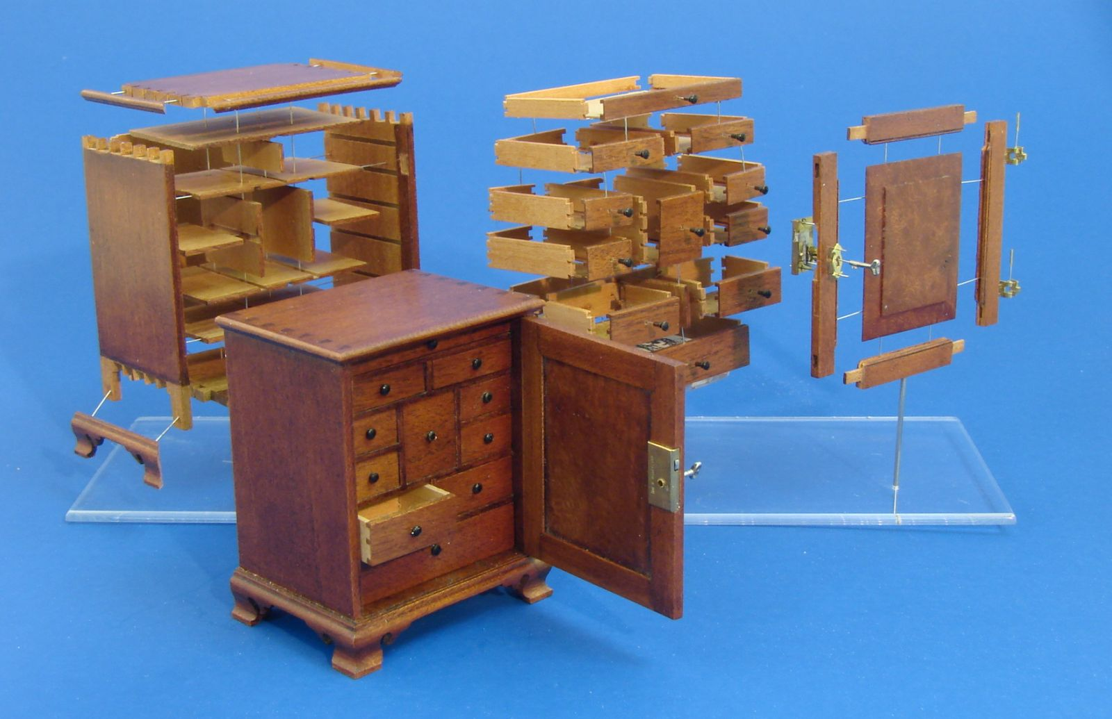 Exploded View of a Chester County Spice Chest by Wm. R. Robertson