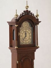 Detail of an Elnathan Tabor Tall Case Clock by Wm. R. Robertson