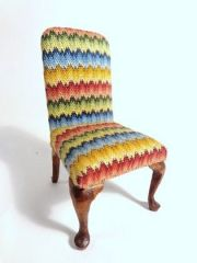 Bargello Slipper Chair by Betty Vallentine