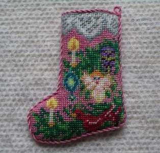 Christmas stocking by Corky Anderson