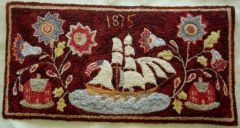 Ship french knot rug by Pat Hartman