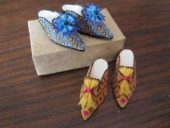 Petit point shoes by Pat Richards