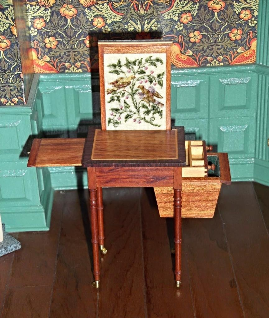 Early 1800's sewing table by Elga Koster