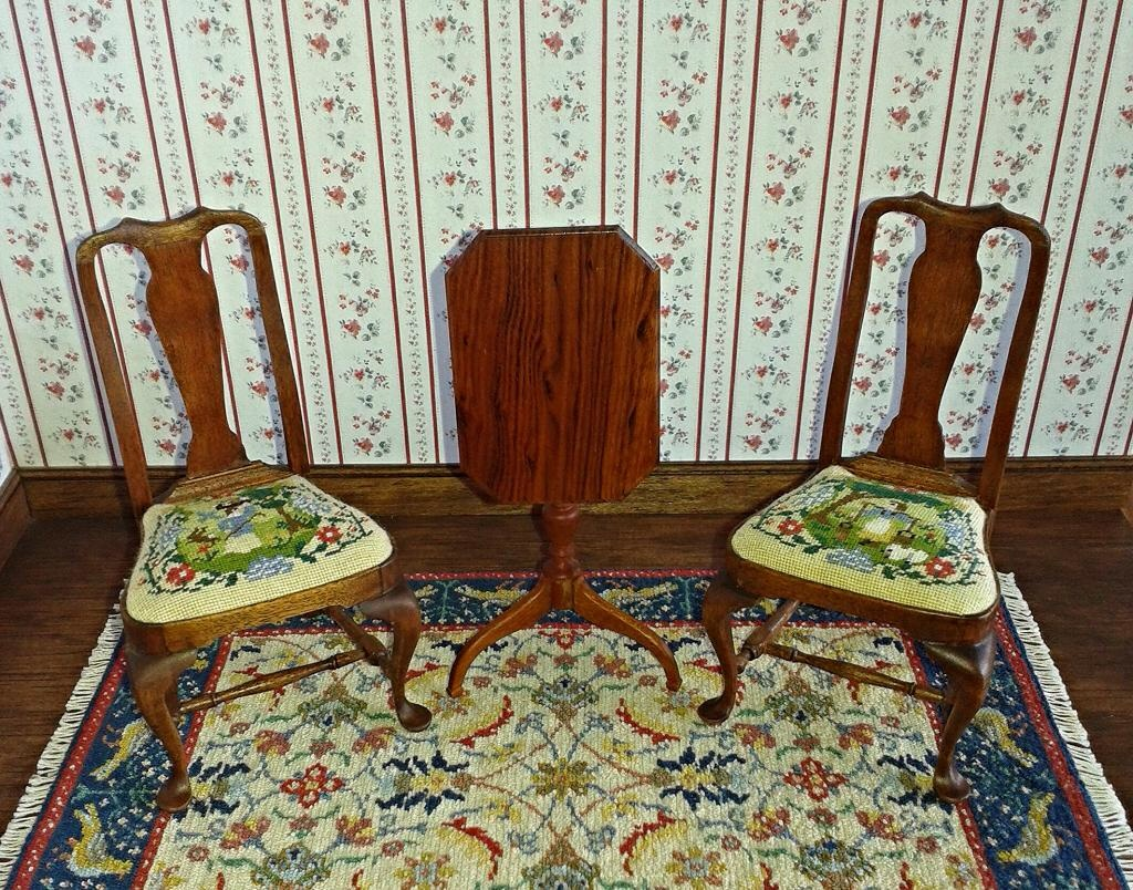 Furniture upholstered with needlepoint