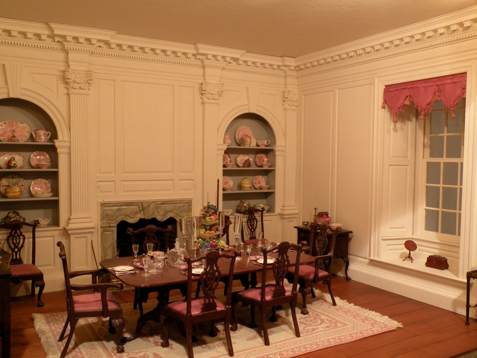 Dining room from Twin Manors by Wm. R. Robertson
