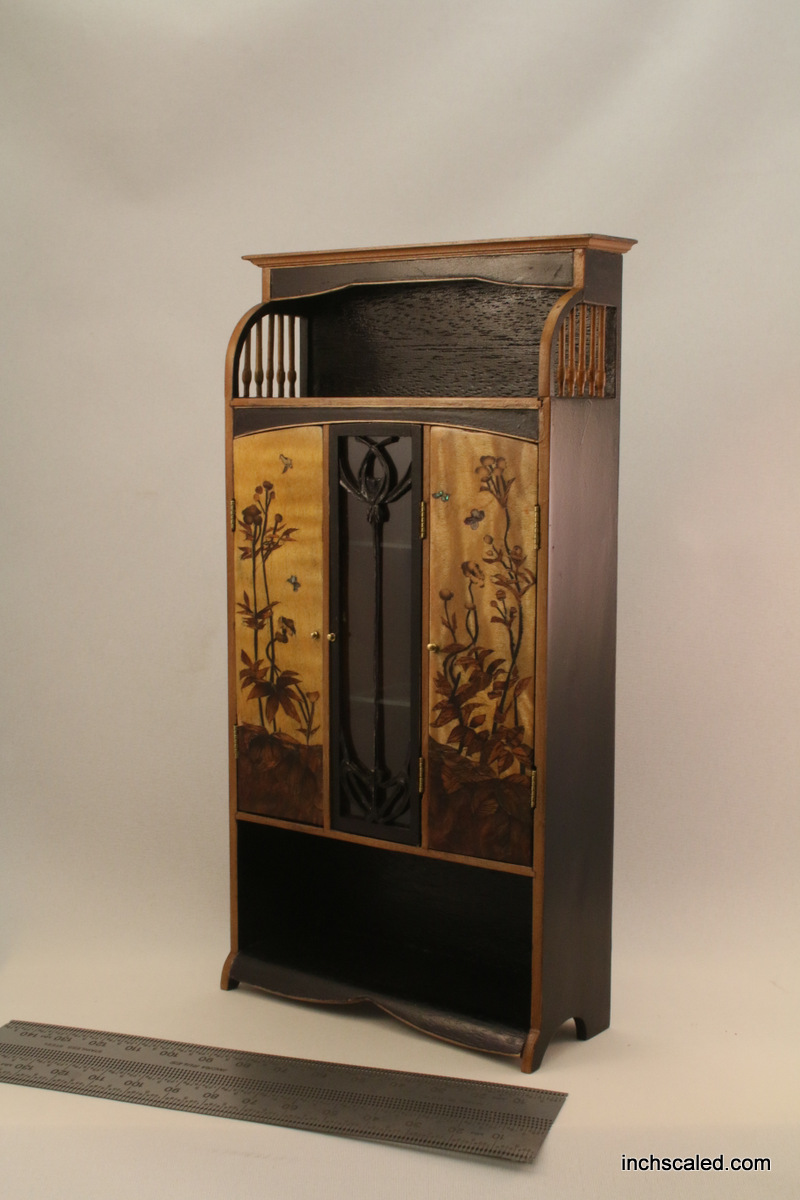 French art nouveau 3 door armoire cabinet by Victoria Morozova