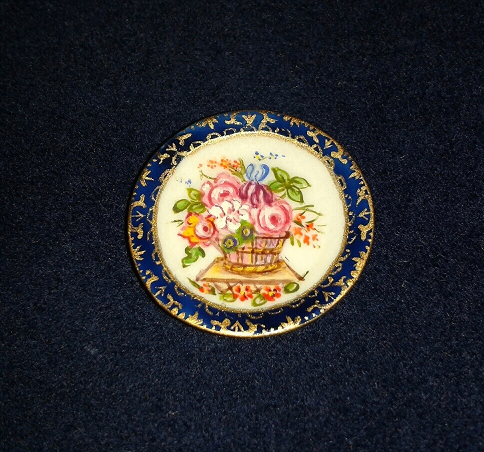 Hand painted plate by Christopher Whitford
