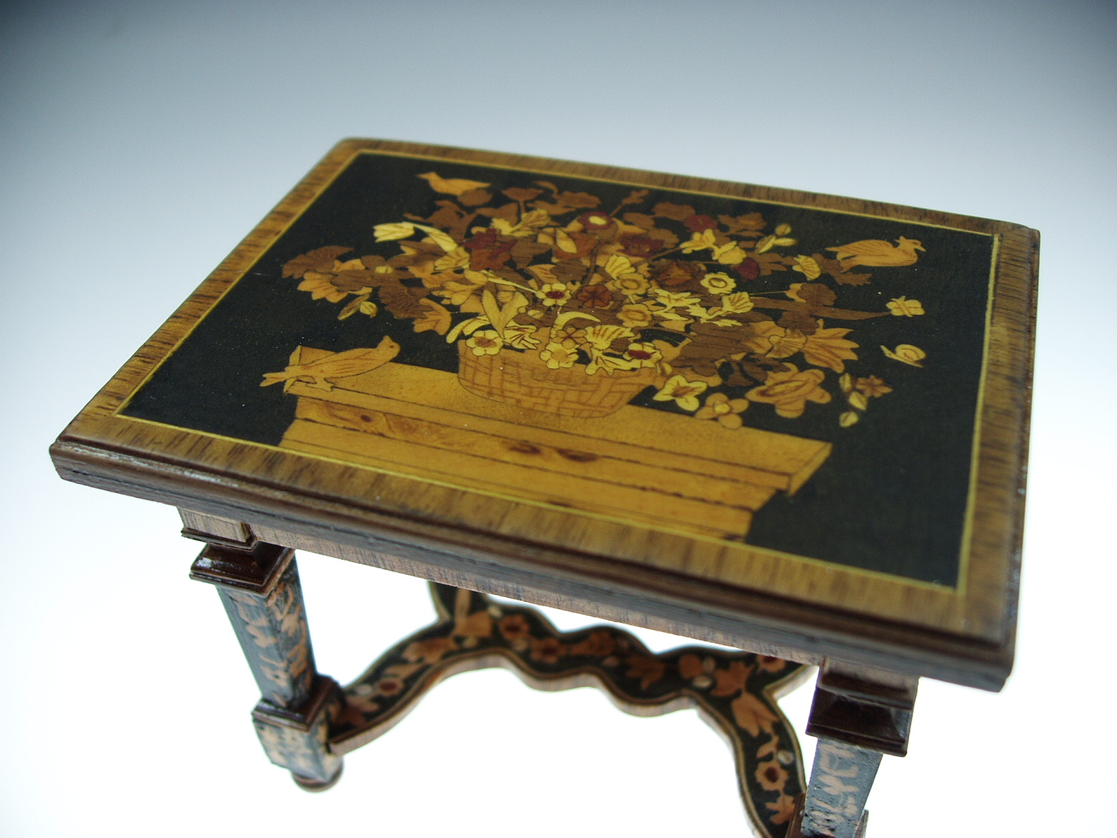 Marquetry Table by Gradus Ulfman