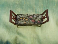 "William Morris ""Leicester"" Petit Point Bench Cushion by Judy Spadoni"