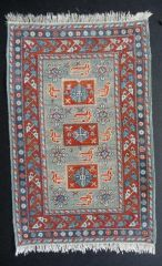 Kazak carpet by Catherine Soubzmaigne