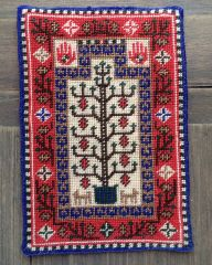 Baluchi Prayer Rug stitched by Nancy Enge