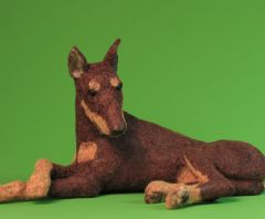 1:12 Scale red Doberman Pinscher by Patricia Paul