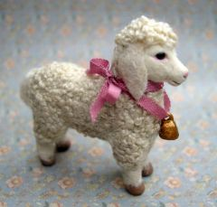 Catherine Ronan... Lamb Toy... Stitched French Knot Coat