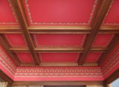 Parlor ceiling in Craftsman bungalow