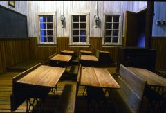 Calico Ghost Town School House Interior by Gail Geiger