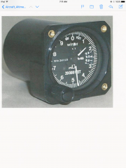 Backup altimeter with three pointers