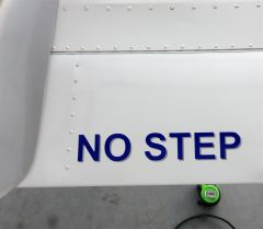 "New ""No Step"" placard"
