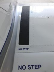 New passenger wing placards