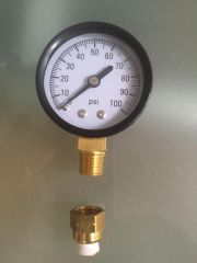 Pressure Gauge and Gauge-to-Line Fitting