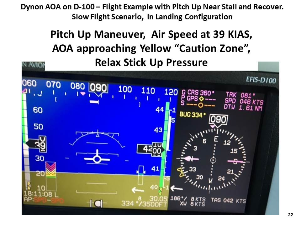 "Pitch up to airspeed only 39 KIAS,  AOA approaching Yellow ""Caution Zone"""