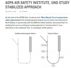 AOPA And Univ ND Study Rectangular Vs Circular Traffic Pattern Option 11 17 2016