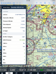 "NAVWORX ADS-B OUT ""OWNSHIP"" detection by Status II ADS-B IN receiver in flight"