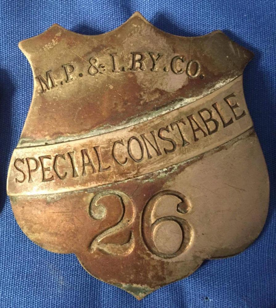 early canadian railway police badge mystery items detectives