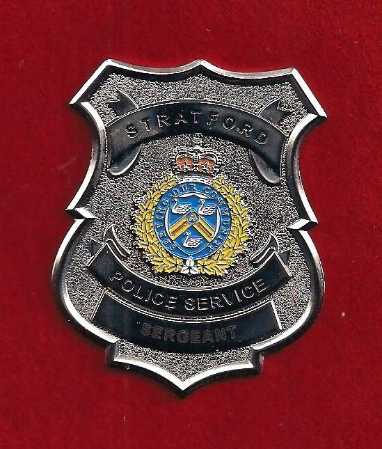 Stratford Police Sergeant Wallet Badge issued 2017.jpg