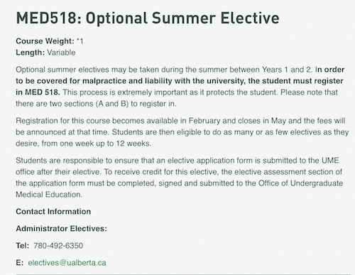 Summer Elective - Canada or Abroad? - Medical Student