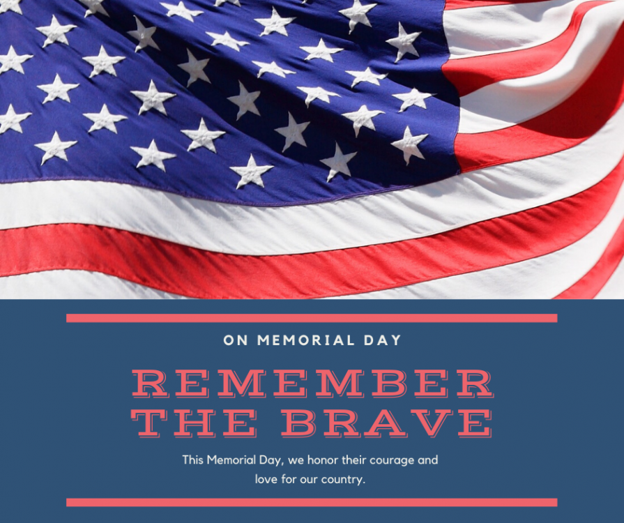 Navy Blue and Red Photo Memorial Day Wishes Facebook Post.png