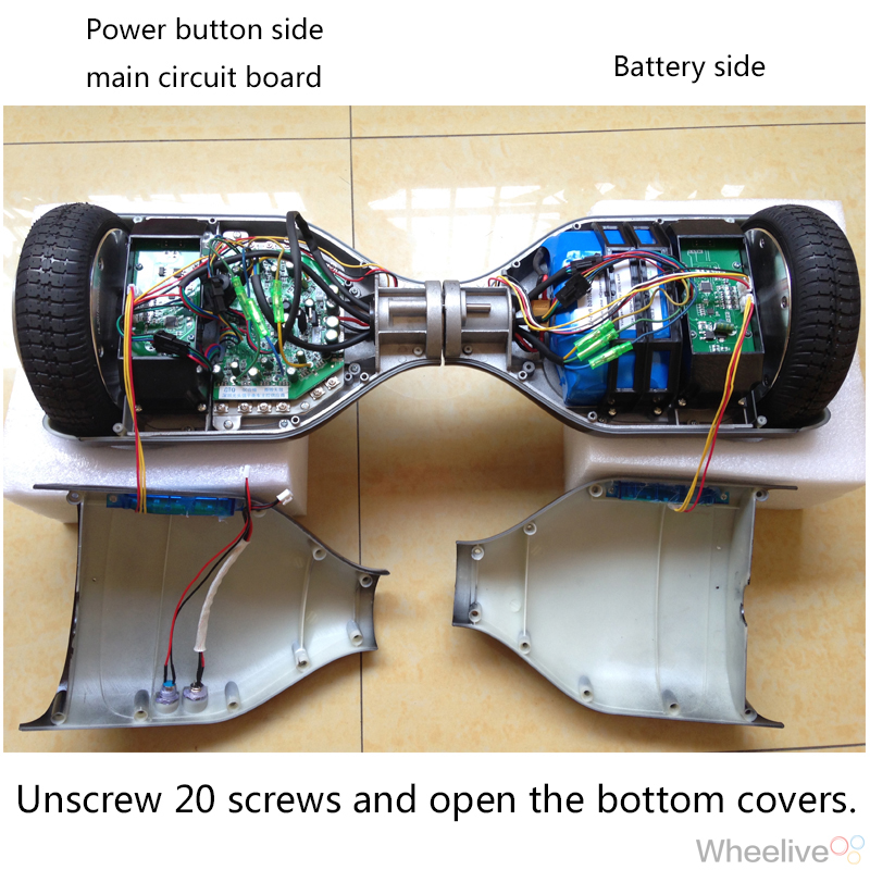 Smart self balancing electric scooter hover board Fault ... on