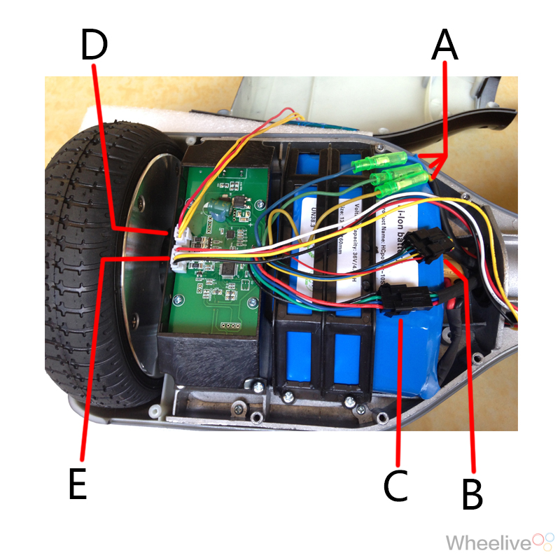 smart self balancing electric scooter hover board fault