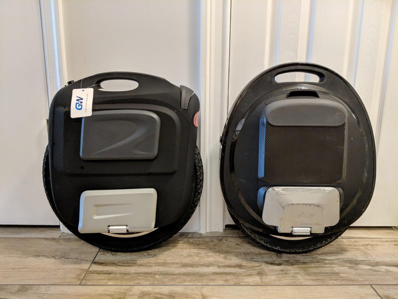 Tesla vs  MSuper V3s+ with Tesla Motor - Gotway - Electric Unicycle