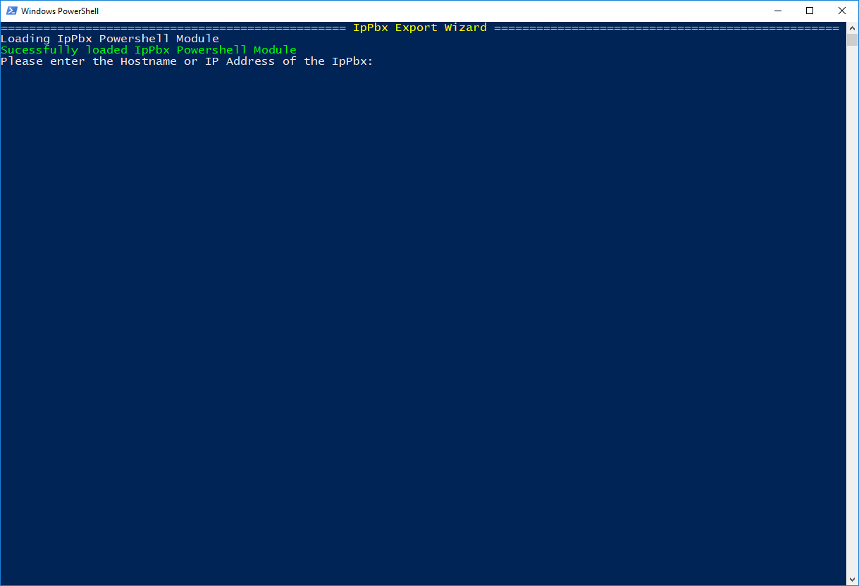 PowerShell User Export / Import Wizard
