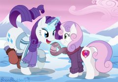 Rarity & Sweetie Belle in Winter