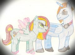 Well this was my very first pony couple art!