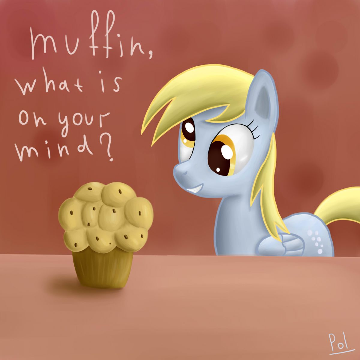Derpy and muffin