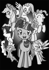 MLP friendship is B&W