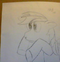 my first rainbow dash drawing